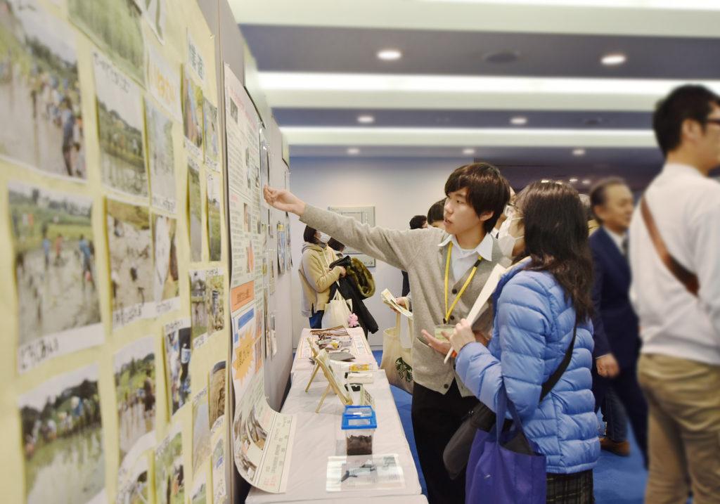 横須賀高校フロア展示 かんきょうフォーラム2020年