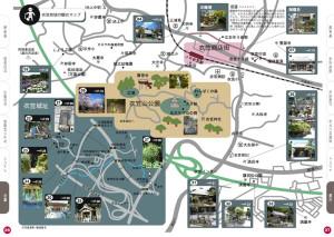 衣笠地域の観光マップ