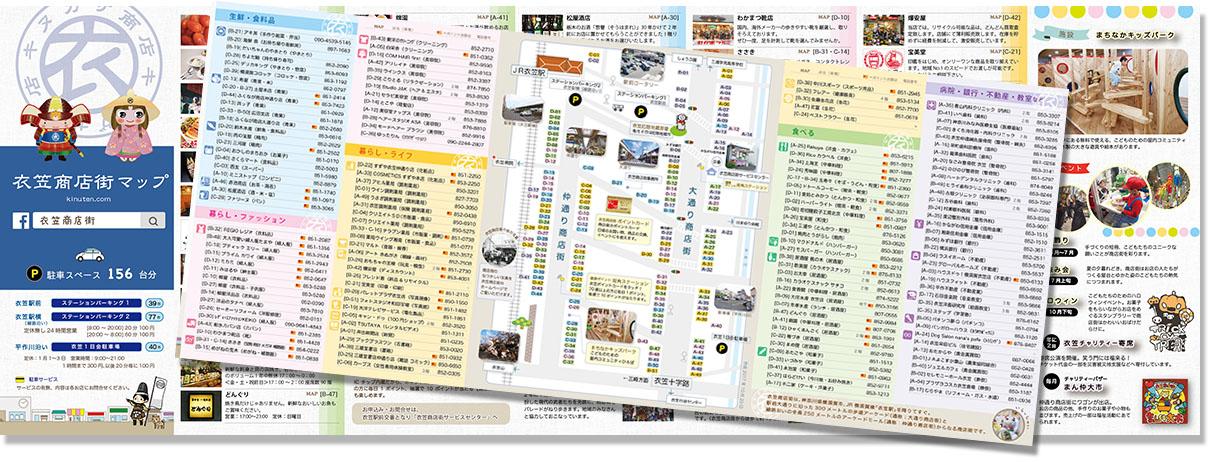 衣笠商店街マップ